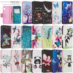 Leather Wallet Flip Phone Case Cover For Samsung Galaxy A10