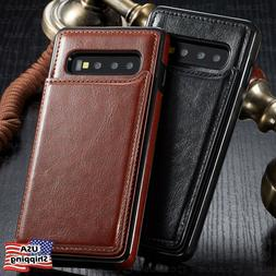 leather wallet magnet flip cover thin slim