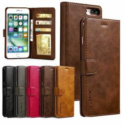 Leather Wallet Magnetic Flip Case Cover Stand For iPhone SE