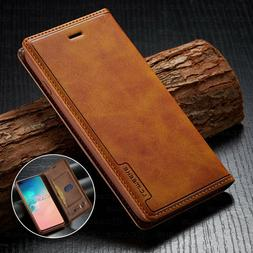 Leather Wallet Sim Card Flip Cover Case For Samsung Galaxy N