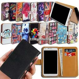 Leather Wallet Stand Magnetic Flip Case Cover For Various Bl