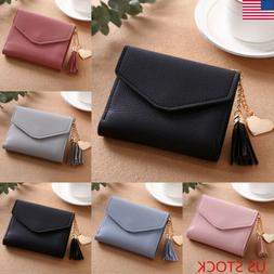 Leather Wallets Trifold Womens Solid Cute Wallet Case Simple