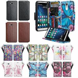 LG Fortune 2 Case, Rebel 3 LTE   Leather Magnetic Fold Stand