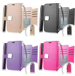 For LG Aristo 5 - Book Style Wallet Protective Case Cover wi