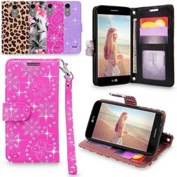 For LG K20 Plus / LG K10  Leather Wallet Stand Pouch Protect