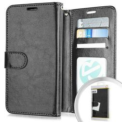 For LG K40 - PU Leather Multi Card Wallet Case Diary Pouch H