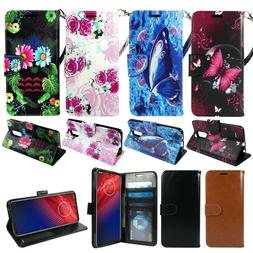 For LG K40, Solo LTE, PU Leather Wallet Phone Case Cover Fli