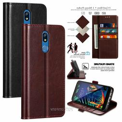 For LG K40/Solo LTE/Xpression Plus 2, Magnetic Flip Leather