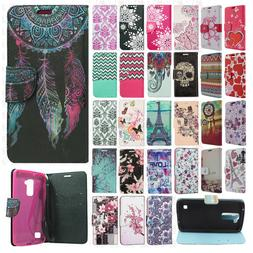 For LG K7 / Tribute 5 Premium Leather Wallet Case Pouch Flip