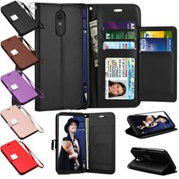For LG Stylo 4 / LG Stylo 5 Leather Flip Wallet Case Magneti