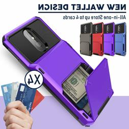 For LG Stylo 5/5V/5x/5 Plus Phone Case Hybrid Card Wallet Ho