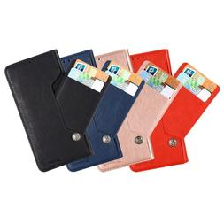 For LG Stylo 5 Magnetic Leather Wallet Case w/ Card-Holder &