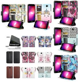 LG X CHARGE Design Wallet Credit Card ID Cash Stand Flip Pho