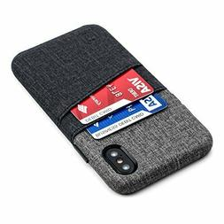 Dockem Luxe Wallet Case for iPhone X; Minimalist Card Case w