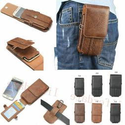 Luxury Belt Holster Waist bag Sleeve PU Leather Pouch Pocket