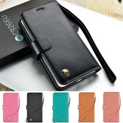 Luxury Leather Magnetic Wallet Case Cover iPhone 8 Plus iPho