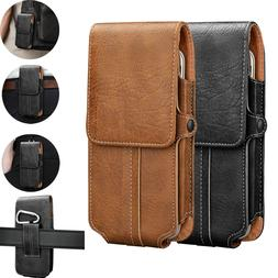 Luxury Leather VERTICAL Case Pouch For LG Cell Phone With Ho