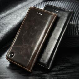 luxury leather wallet case magnetic flip cover