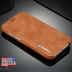Luxury Leather Wallet Stand Thin Slim Skin Case Cover for iP