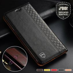 Luxury Magnetic Real Leather Flip Wallet Case Cover For Goog