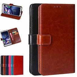 Dooqi Luxury PU Leather Wallet Card Flip Stand Cover Case Fo