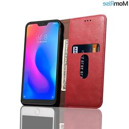 Luxury Retro Slim Leather Cover For XiaoMI MI A3 <font><b>Ca