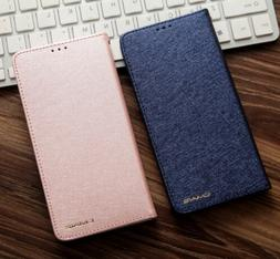 Luxury Slim Wallet Silk Leather Stand Flip Case Cover For iP