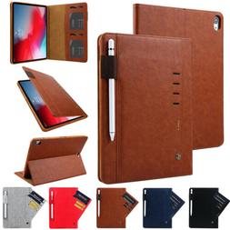 Luxury Smart Leather Wallet Case Cover For iPad 5/6th Gen 9.