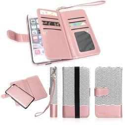 Magnetic 9Card Slot PU Leather Flip Wallet Phone Case Cover
