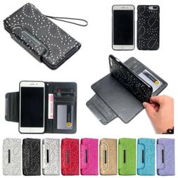 Magnetic Card Slots Wallet Flip Leather Case Cover For iPhon