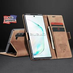 MAGNETIC FLIP COVER Leather Wallet Card Case For Samsung Gal
