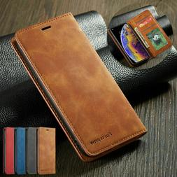 Magnetic Flip Leather Wallet Case For iPhone 12 11 Pro Max X