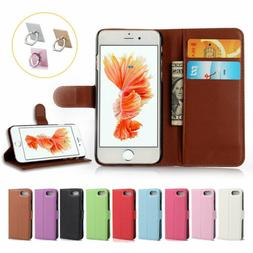Magnetic Flip Wallet Case Leather Card Slot Cover For iPhone