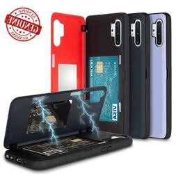 Magnetic Hold Lock Hard Back Card Wallet Case for Galaxy S20