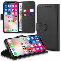 Magnetic Leather Flip Wallet Phone Case Cover for Apple iPho