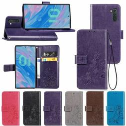 magnetic leather flip wallet phone case cover