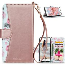 Magnetic Leather Wallet Case Card Shockproof Flip Cover for