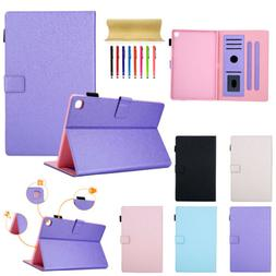 """Magnetic Leather Wallet Case Cover For Samsung Tab A 10.1"""" T"""