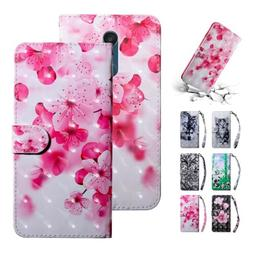 Magnetic Pattern Leather Card Holder Wallet Flip Case Cover