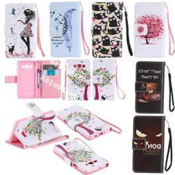 Magnetic Wallet Cartoon PU leather Gel Soft Flip Stand phone