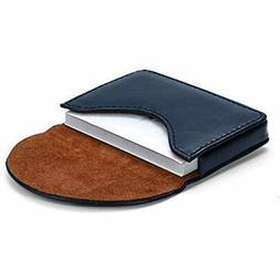 MaxGear Leather Business Card Holder Case For Men Women Name