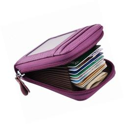 MaxGear RFID Credit Card Holder for Women Wallet Travel Leat