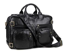 men leather laptop briefcase backpack