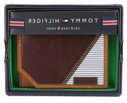 NEW TOMMY HILFIGER MEN'S PREMIUM LEATHER SLIM CARD CASE WALL