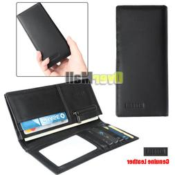 men s business fashion long bifold wallet