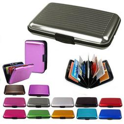 Men's Women's Business Wallet ID Credit Card Holder Mini Met
