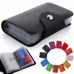 Men's Women's Genuine Leather Pocket Business ID Credit Card