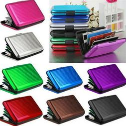 Men Women Metal ID Credit Card Holder RFID Protector Aluminu