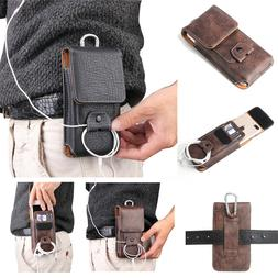 Mens Belt Pouch Leather Loop Holster Carrying Waist Bag Wall