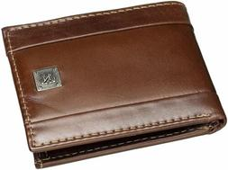 Nautica Mens Leather Passcase Bifold Wallet W/ Removable Car